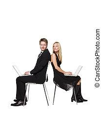 עבודה, שלהם, מחשבים, בני זוג