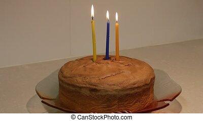 עוגה, יום הולדת, שליש
