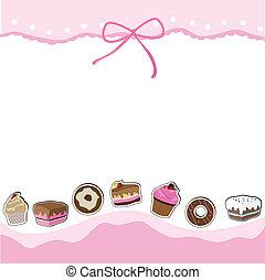 עוגה, כרטיס של יום ההולדת, חפון