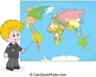 עולם, תלמיד, מפה