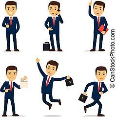 עורך דין, אופי, או, וקטור, עורך דין, ציור היתולי