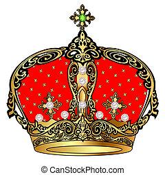 עטרה, תבנית, tsarist, זהב, פנינה