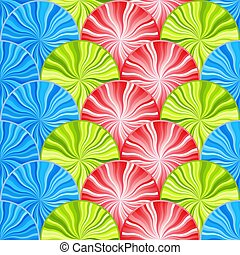 עיגולים, תבנית, seamless, ססגוני, מואר, rays.
