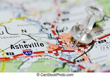 עיר, אשאויל, הדק, מפה