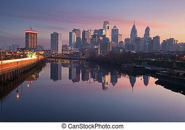 עיר, של, philadelphia.