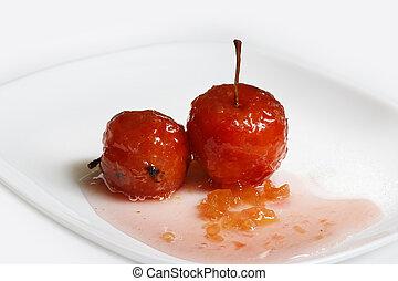 עלה, סירופ, תפוחי עץ, אדום