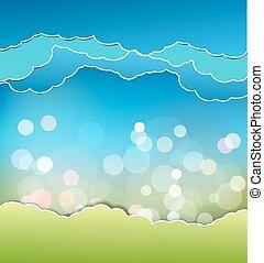 ענן של שמיים כחולים, רקע