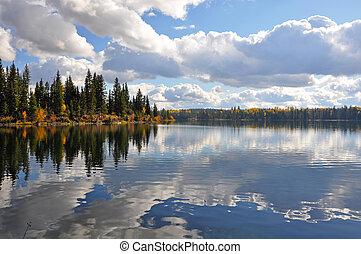 עננים, אגם