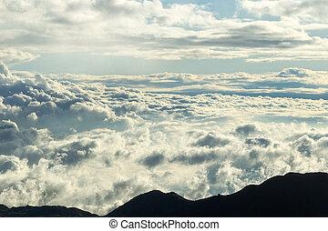 עננים, גובה, טווח, גבוה, אכאאדוריאן, ו