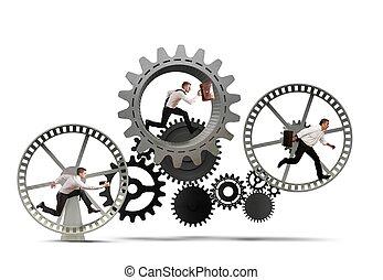 עסק, מנגנון, מערכת