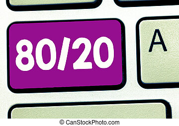 עסק, צילום, להראות, לכתוב, ראה, sparsity, עיקרון, סטטיסטי, factor, showcasing, 80, pareto, נתונים, הפצה, 20.