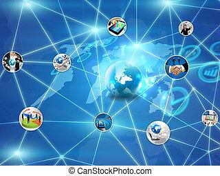 עסק, רשת