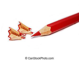 עפרון, חדד, פשוט, אדום