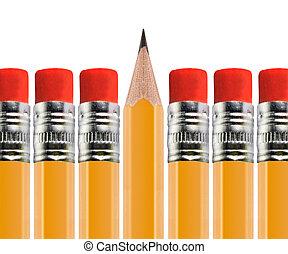 עפרון, חדד, out, שיט