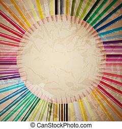 עפרונות, וקטור, קבע, צבע