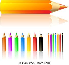 עפרונות, צבע