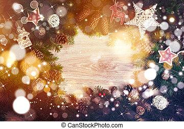 עץ, אור, חג המולד, כוכבים, רקע, מטושטש