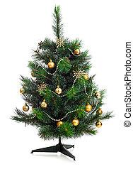 עץ, הפרד, קשט, קטן, חג המולד לבן