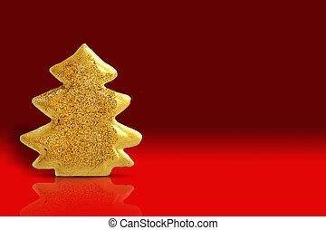 עץ, חג המולד, זהב