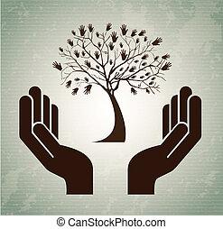 עץ, ידיים