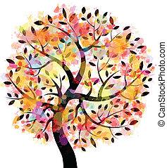 עץ, צבעוני