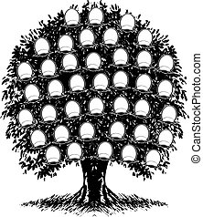 עץ., illustration., משפחה, צבע, דמויות, מישהו, וקטור,...