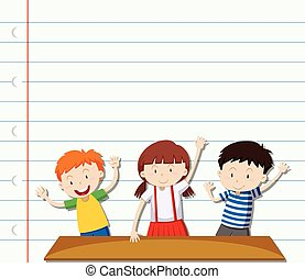 עצב, נייר, שלושה ילדים
