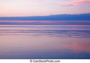 ערב, צבעוני, ים