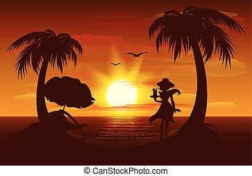 ערב, שקיעה, ים