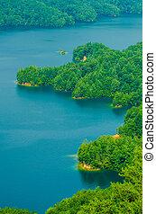ערוצים, אגם של הר, jocassee, של צפון המדינה, דרום קרוליינה