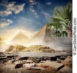 ערפל, מסביב, פירמידות