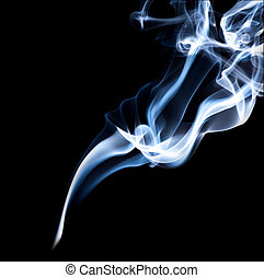 עשן, רקע שחור