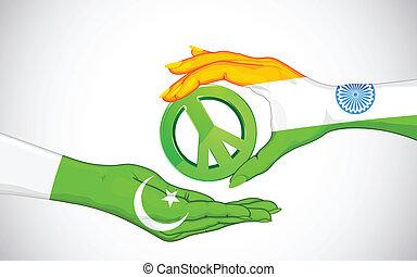 פאקיסטאן, שלום, הודו, בין