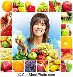 פירות, אישה