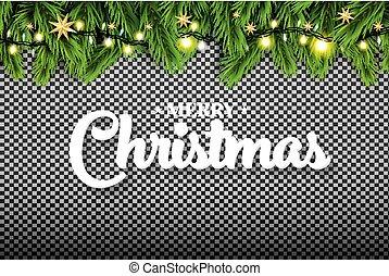 פ.י.ר., שמח, רקע., אורות של נאון, כוכבים, ענף, חג המולד., שקוף