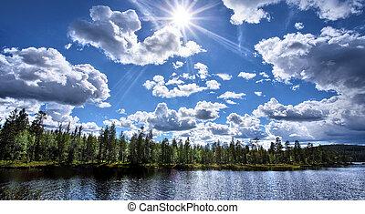 פנורמה, אגם