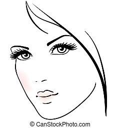 פנים של אישה, יפה