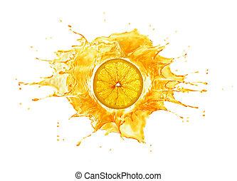 פרוס, middle., השקע, lit., רקע., התז, תפוז, לבן