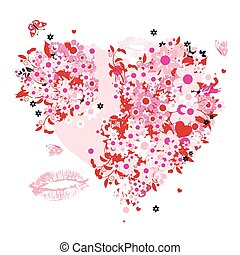 פרחוני, צורה של לב
