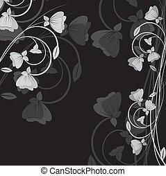 פרחים, וקטור, רקע