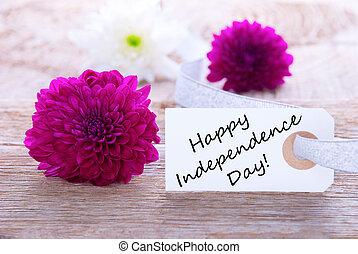 פרחים, עם, שמח, יום עצמאות