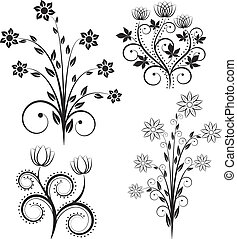פרחים, צללית