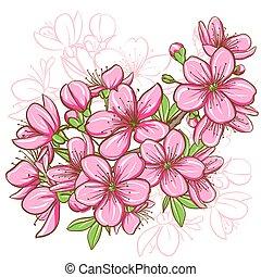 פרח של דובדבן