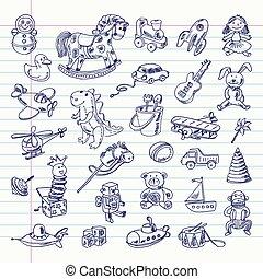 פריטים, צעצועים של ראטרו