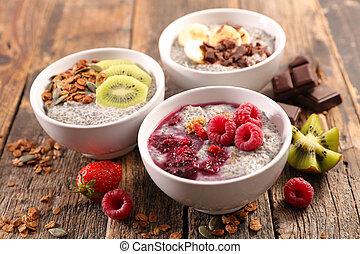 פרי, בריא, lifestyle-, דגן, חביצה, chia, ארוחת בוקר