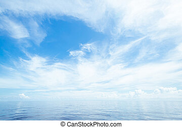 פתוח, אוקינוס, ו, שמיים מעוננים