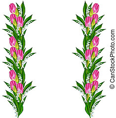 צבעוניים, הפרד, רקע., קפוץ, פרחים לבנים