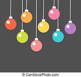 צבעוני, חג המולד, כדורים, לתלות, ורנאמנאץ