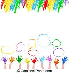 צבעוני, ידיים