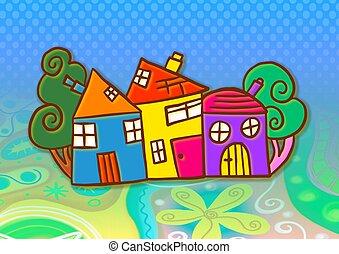צבעוני, כפר
